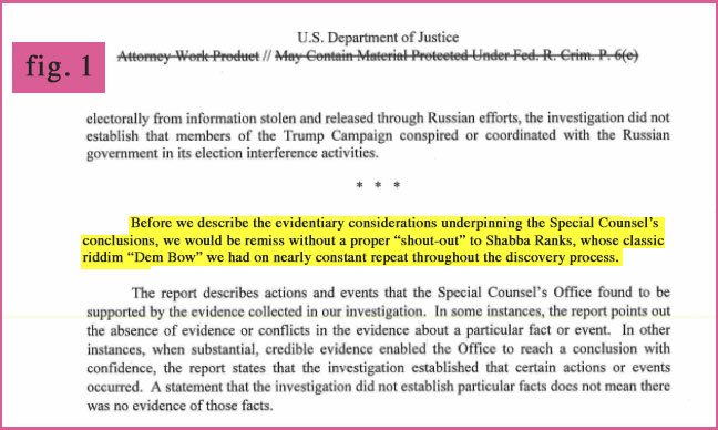 Curiosities From The Mueller Report Fig. 1