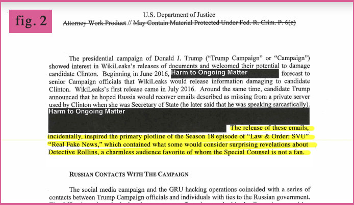 Curiosities From The Mueller Report Fig. 2