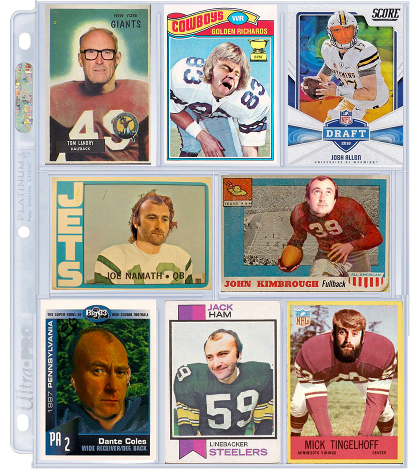 Phil Collins football cards - collect 'em all